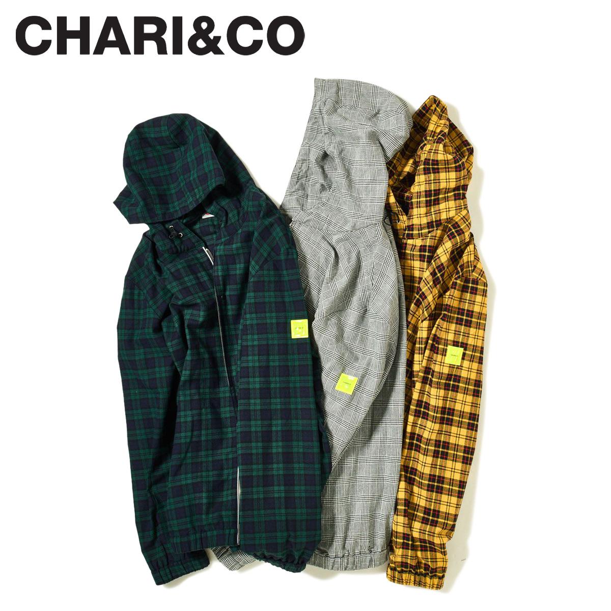 【最大2000円OFFクーポン】 CHARI&CO チャリアンドコー シャツ シャツジャケット メンズ FLANNEL HOODIE JKT グレー グリーン イエロー