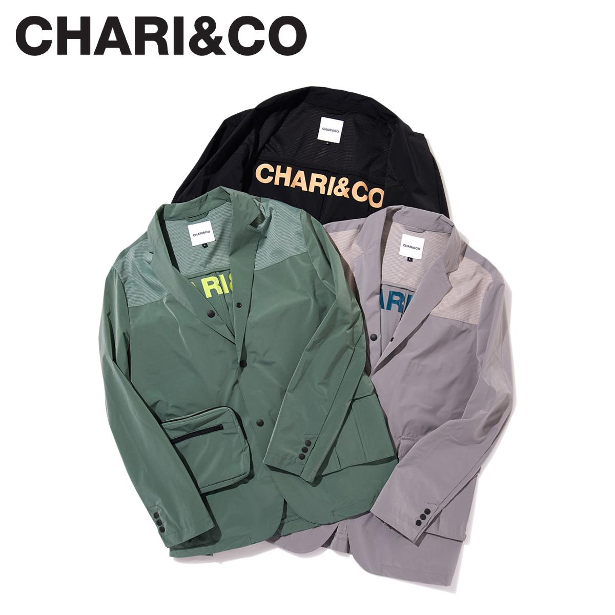 【最大2000円OFFクーポン】 CHARI&CO チャリアンドコー ジャケット ブレザー メンズ PACKABLE BLAZER ブラック グレー カーキ 黒