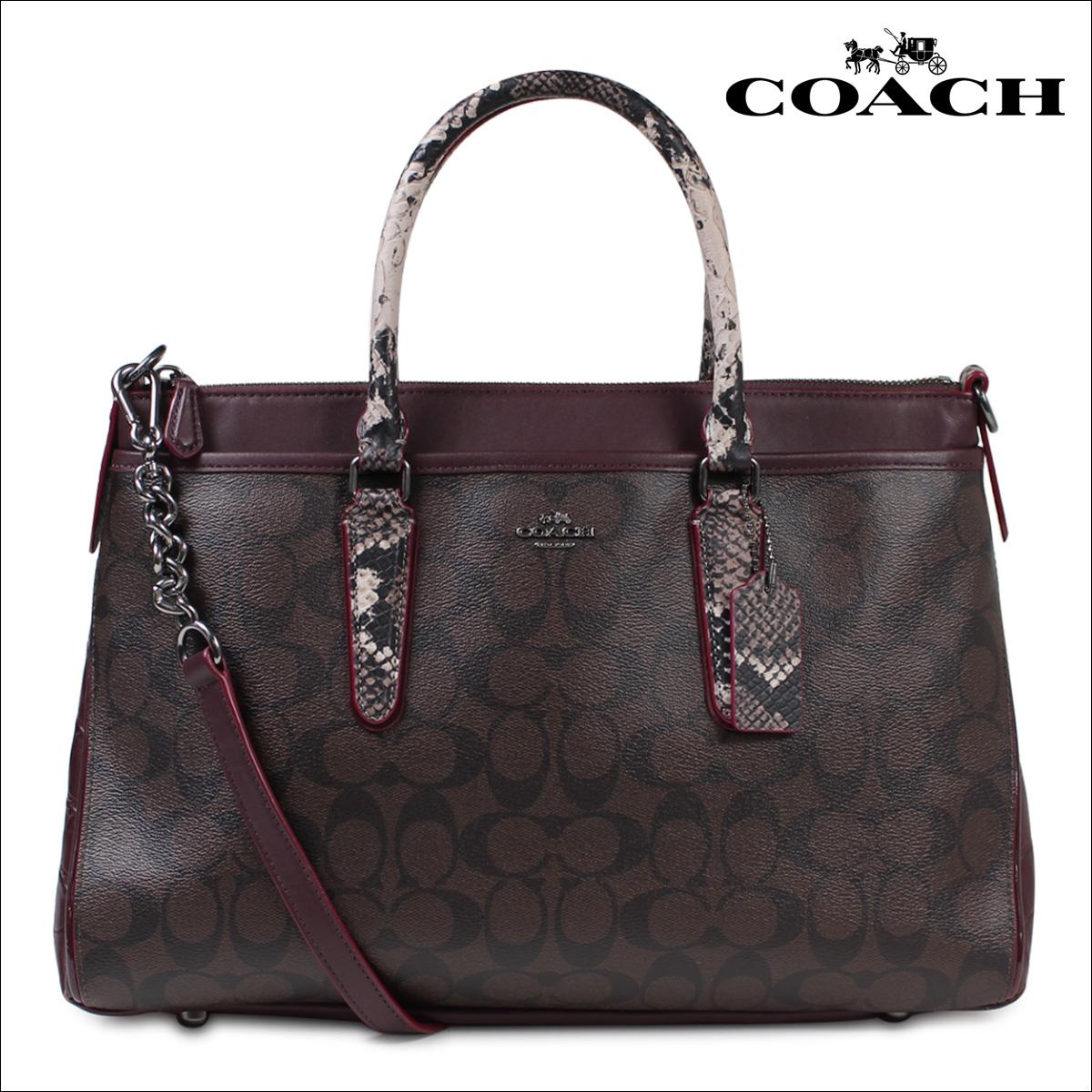 教练教练手提包袋挎包妇女也 F38413 布朗 x (红色) [11 / 8 新股票]