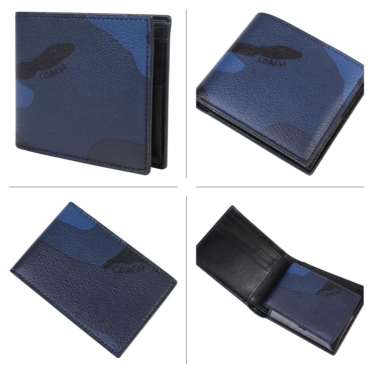 Coach wallet men COACH folio F57655 LNX indigo duck [3/14 Shinnyu load]