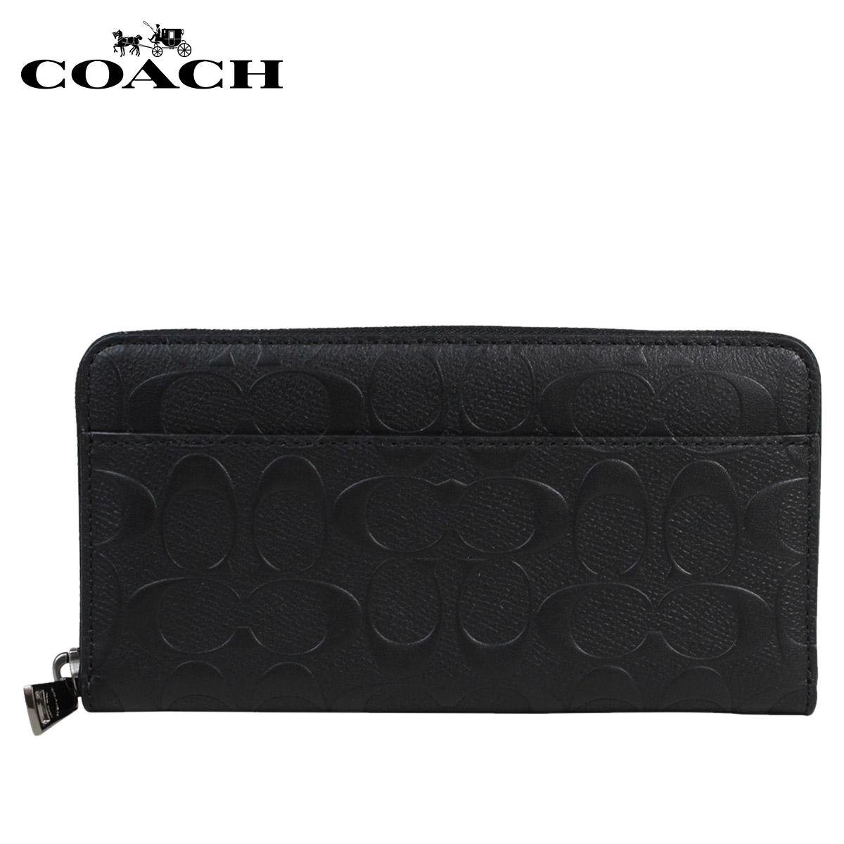 コーチ COACH 財布 長財布 メンズ ブラック F7537234LA5Rj