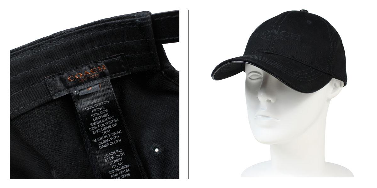 COACH coach mens Caps hats F86005 black