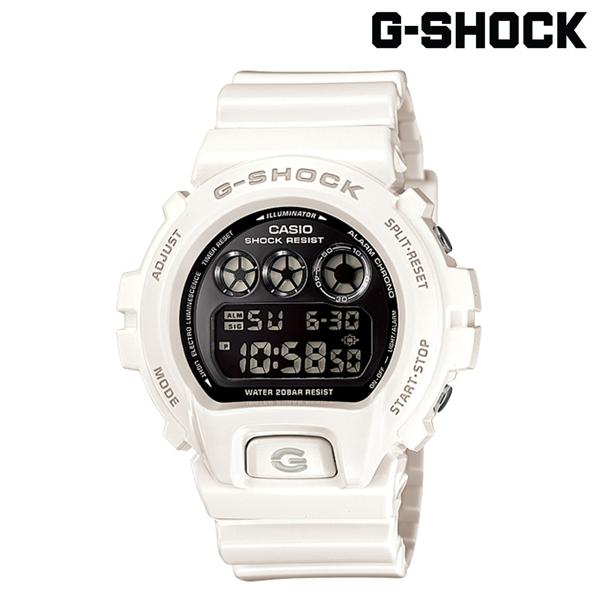 カシオ CASIO G-SHOCK 腕時計 DW-6900NB-7JF METALLIC COLORS ジーショック Gショック G-ショック ホワイト メンズ レディース