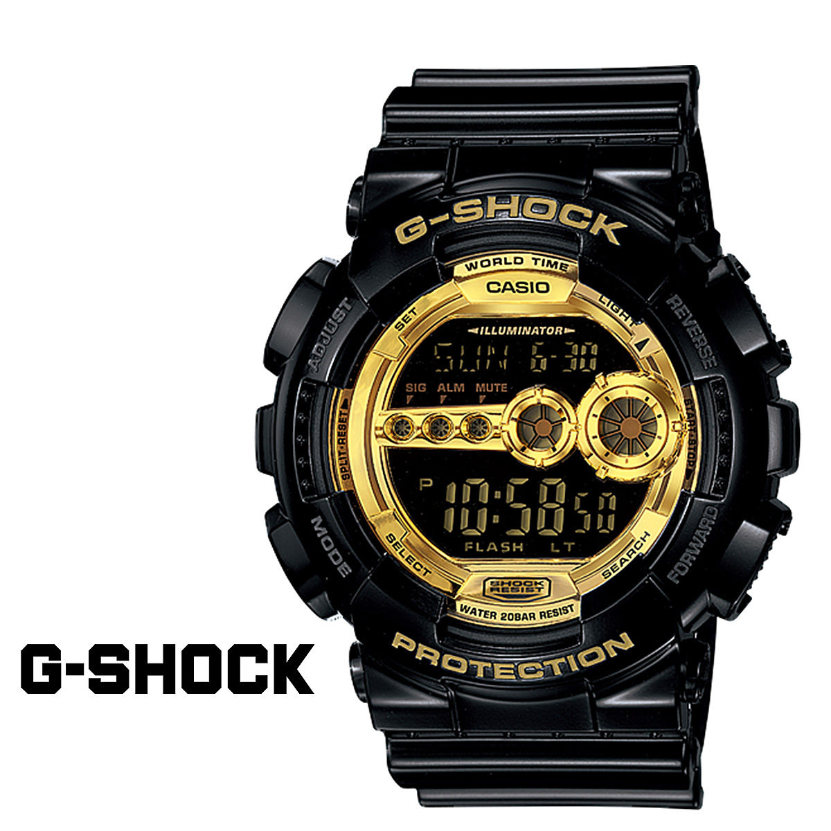 【最大2000円OFFクーポン】 カシオ CASIO G-SHOCK 腕時計 GD-100GB-1JF BLACK GOLD SERIES ジーショック Gショック G-ショック メンズ レディース