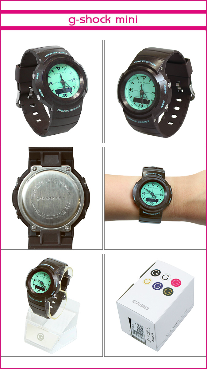 Casio CASIO g-shock mini ladies watch men's GMN-500-5BJR chocolate mint [1 / 28 new in stock] [regular] ★ ★