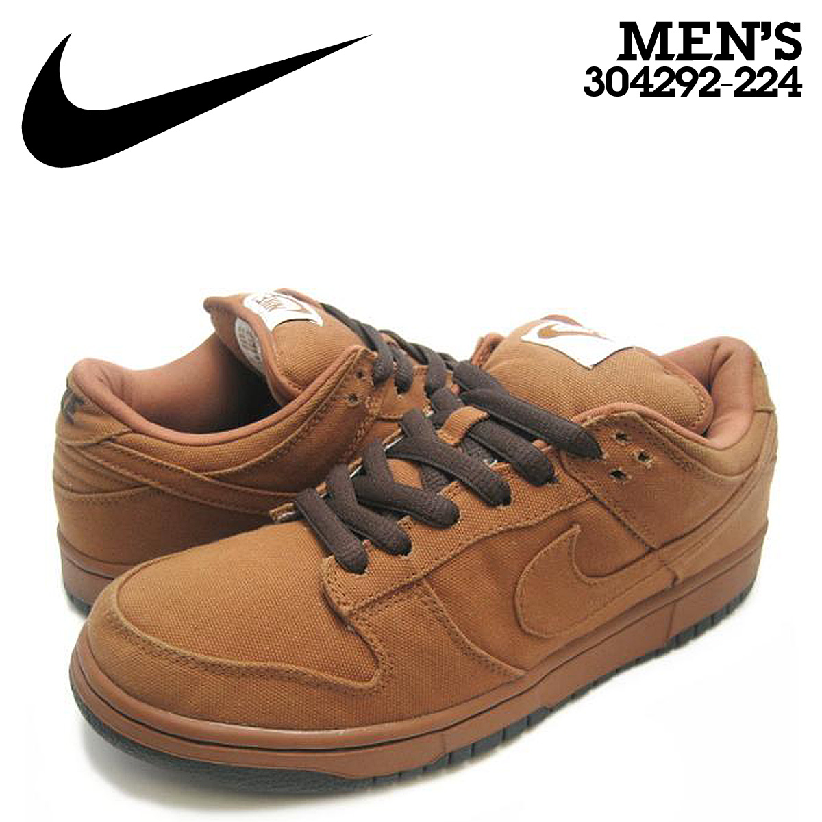 quality design c4da1 c9abb Nike NIKE dunk sneakers DUNK LOW PRO SB CARHARTT dunk low pro S beaker  heart 304,292-224 brown men
