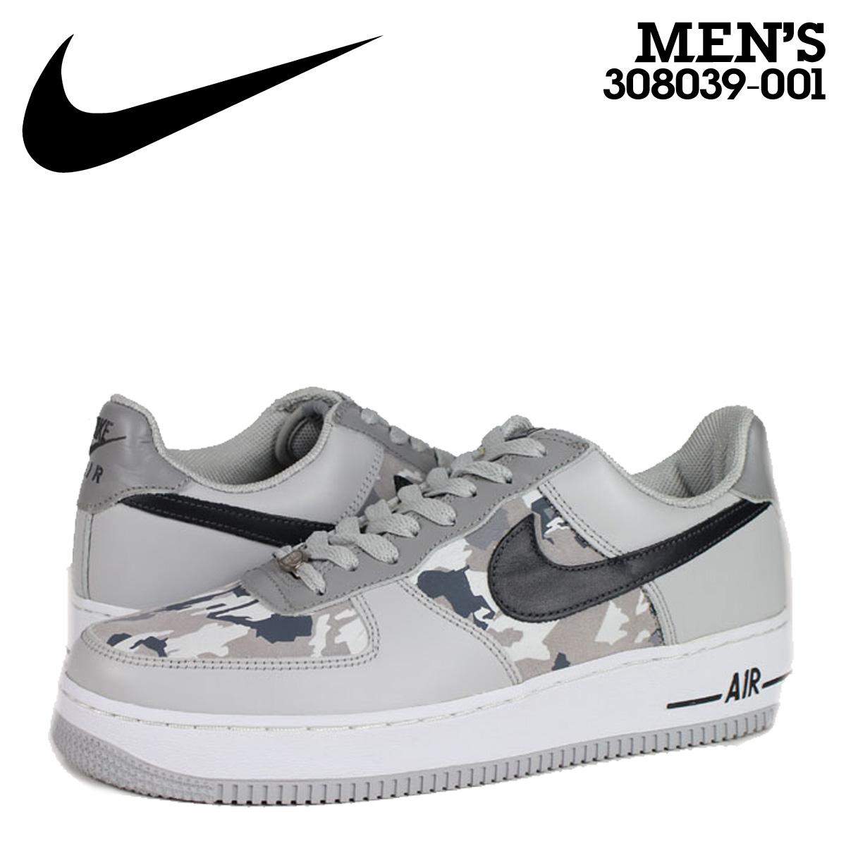NIKE AIR FORCE 1 PREMIUM NEUTRAL Nike air force sneakers air force 308,039 001 gray men