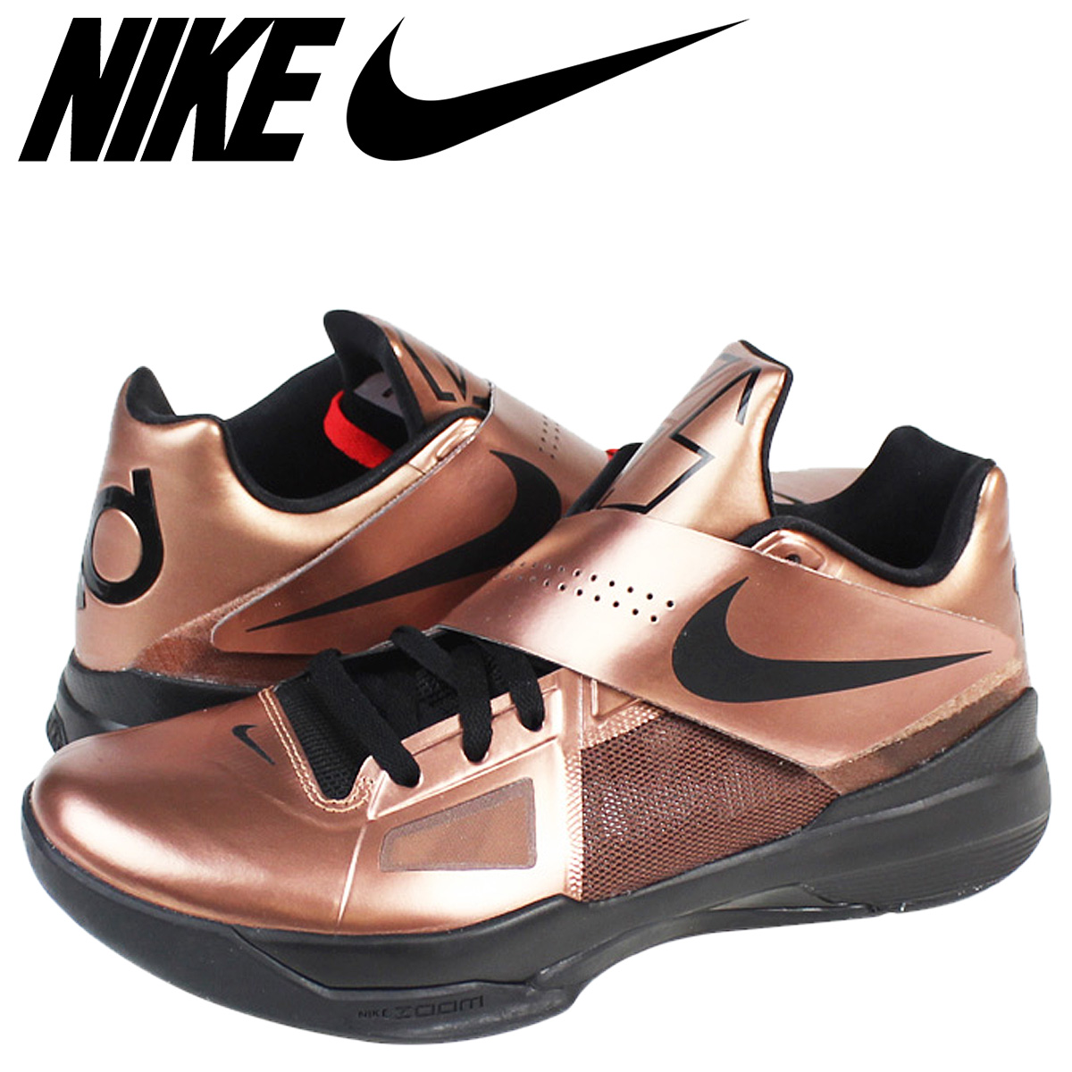 4a23a13e8d7 Nike NIKE zoom sneakers ZOOM KD IV CHRISTMAS EDITION Kevin Durant 4  Christmas limited edition 473679-700 men s metallic copper