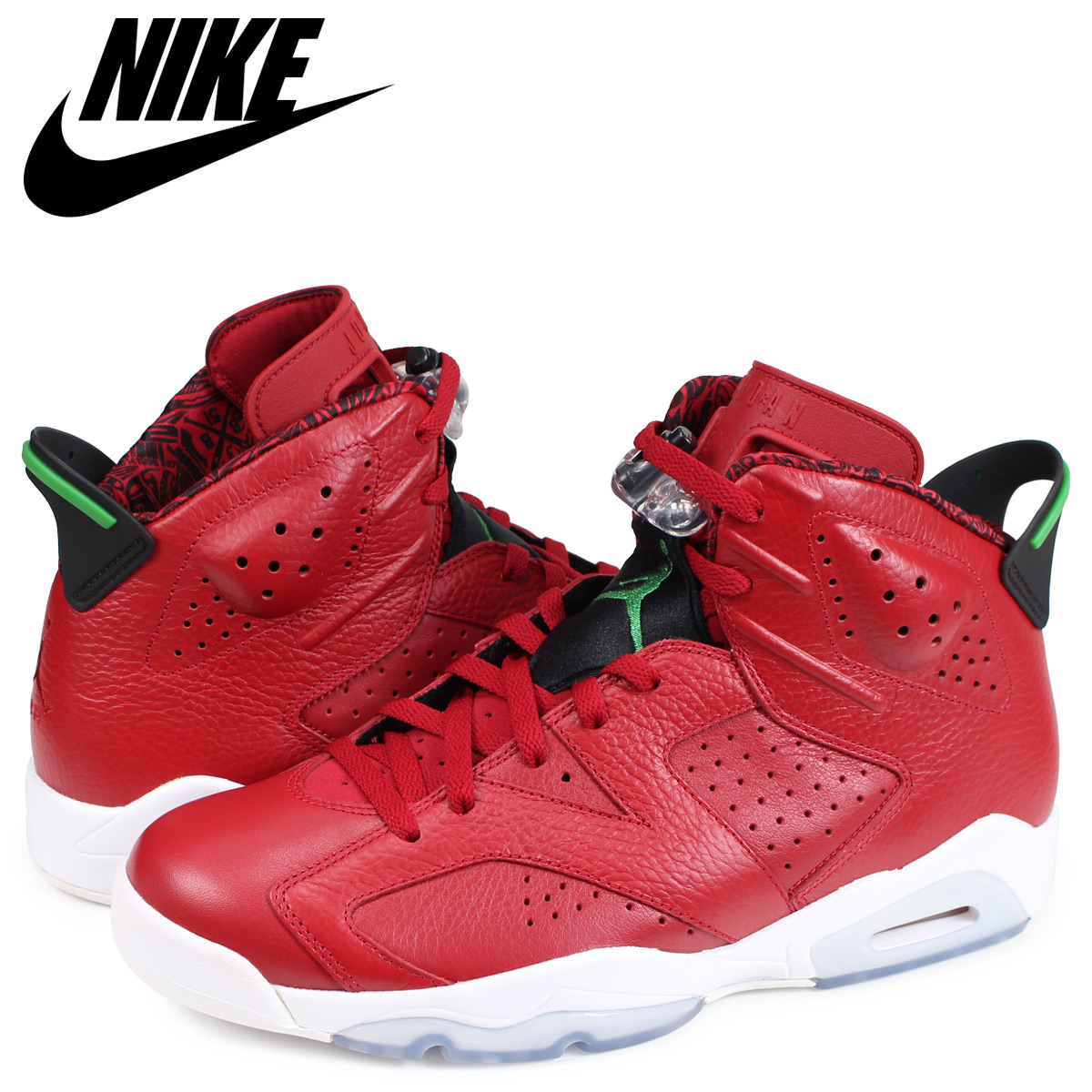 8e4bf6fccea5 NIKE AIR JORDAN 6 RETRO SPIZIKE Nike Air Jordan 6 nostalgic sneakers men  red 694