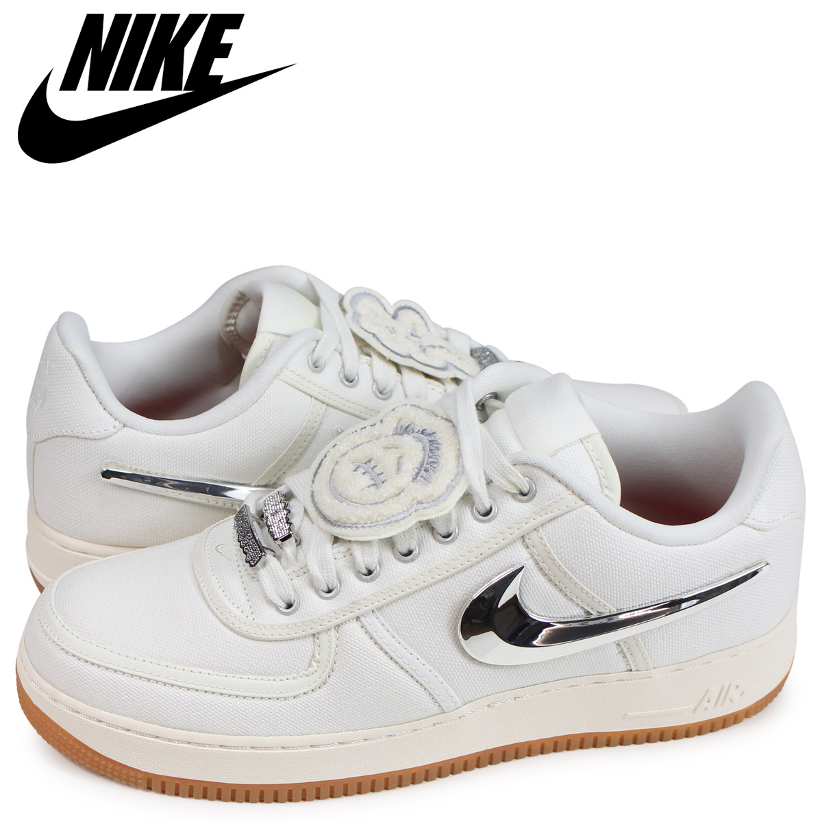 info for 92ccd de21c NIKE AIR FORCE 1 LOW TRAVIS SCOTT Nike air force 1 sneakers men white  AQ4211-101