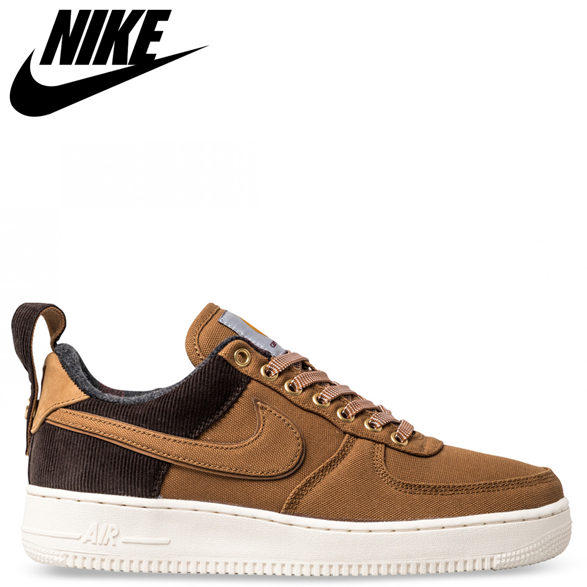 Nike Lifestyle | Mens x Carhartt WIP Air Force 1 Ale BrownSailAle Brown