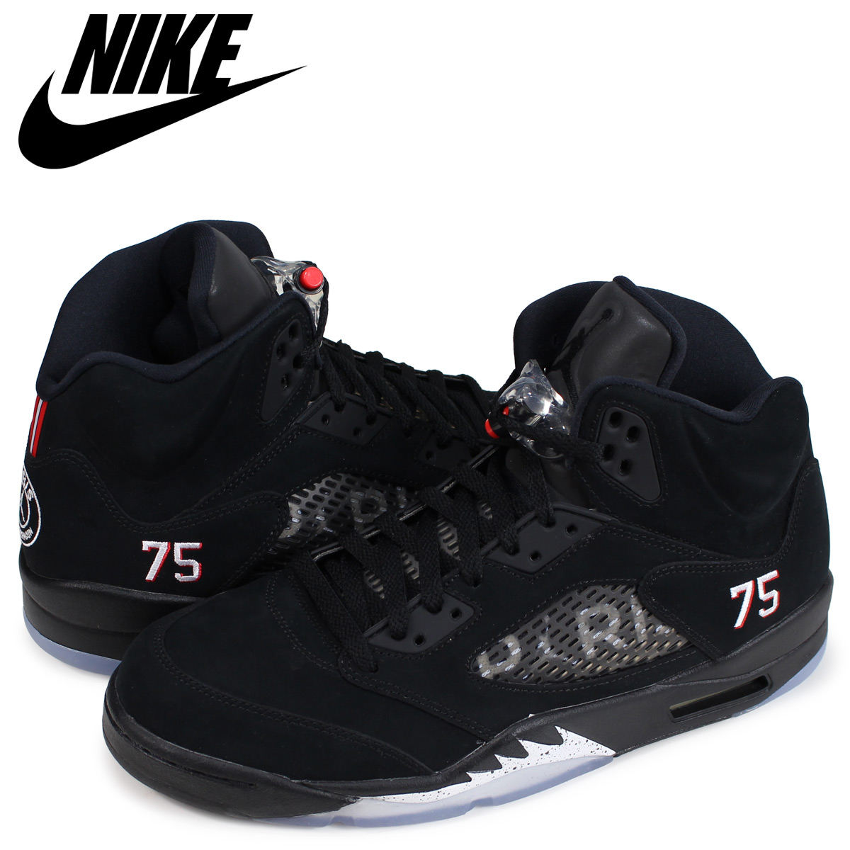 5c98f6a1fd29ca NIKE AIR JORDAN 5 RETRO BCFC PSG Nike Air Jordan 5 nostalgic sneakers men  black AV9175-001