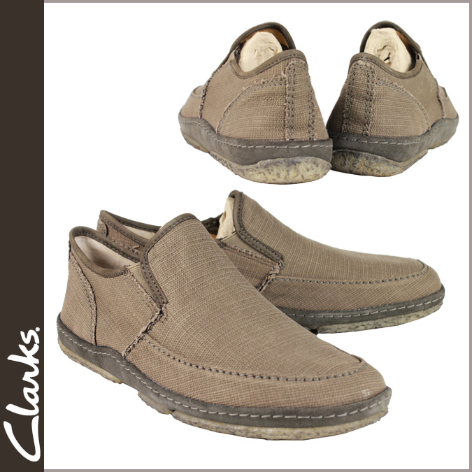 Men's Clarks originals-Clarks ORIGINALS comfort shoe [Olive] 34446 TORPEDO canvas [genuine]
