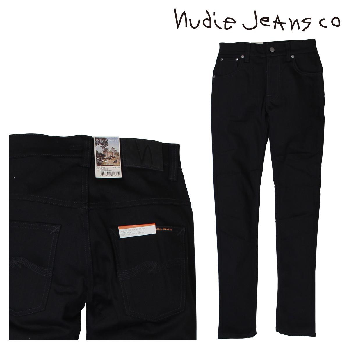 ヌーディージーンズ nudie jeans THIN FINN スキニー メンズ デニム パンツ DRY COLD ブラック