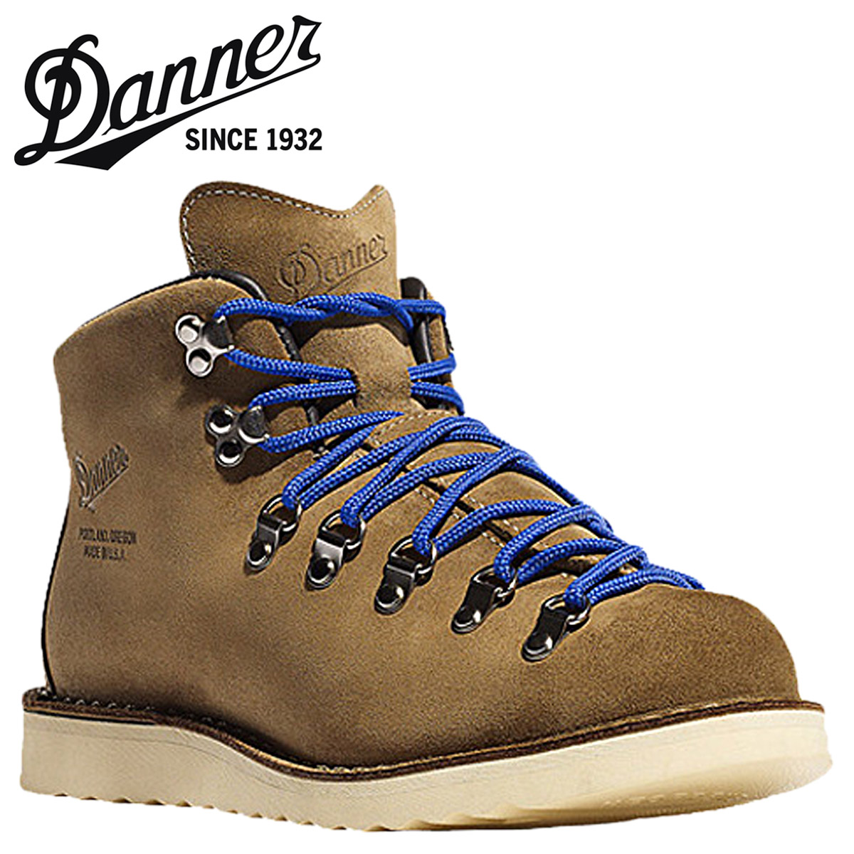 Danner Danner mountain light Terminal 4 sandbege × Blue Suede mens boots Made in USA limited mountain trail