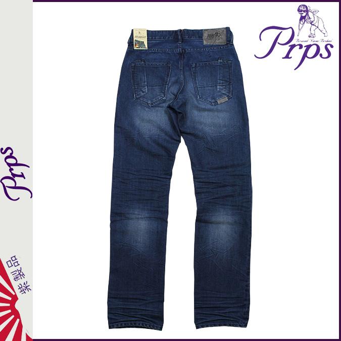 ピーアールピーエス PRPS vintage denim BARRACUDA REGULAR FIT VINTAGE DENIM PANTS JEANS jeans jeans G bread pants cotton men's 2013 new