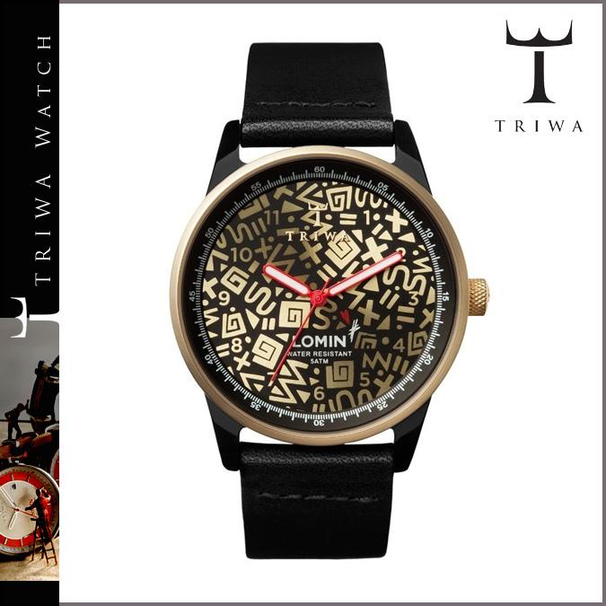 Thoria TRIWA watch [black X gold] LOAC115 HATTIE STEWART GOLD LOMIN men gap Dis [2/13 Shinnyu load] [regular]★★