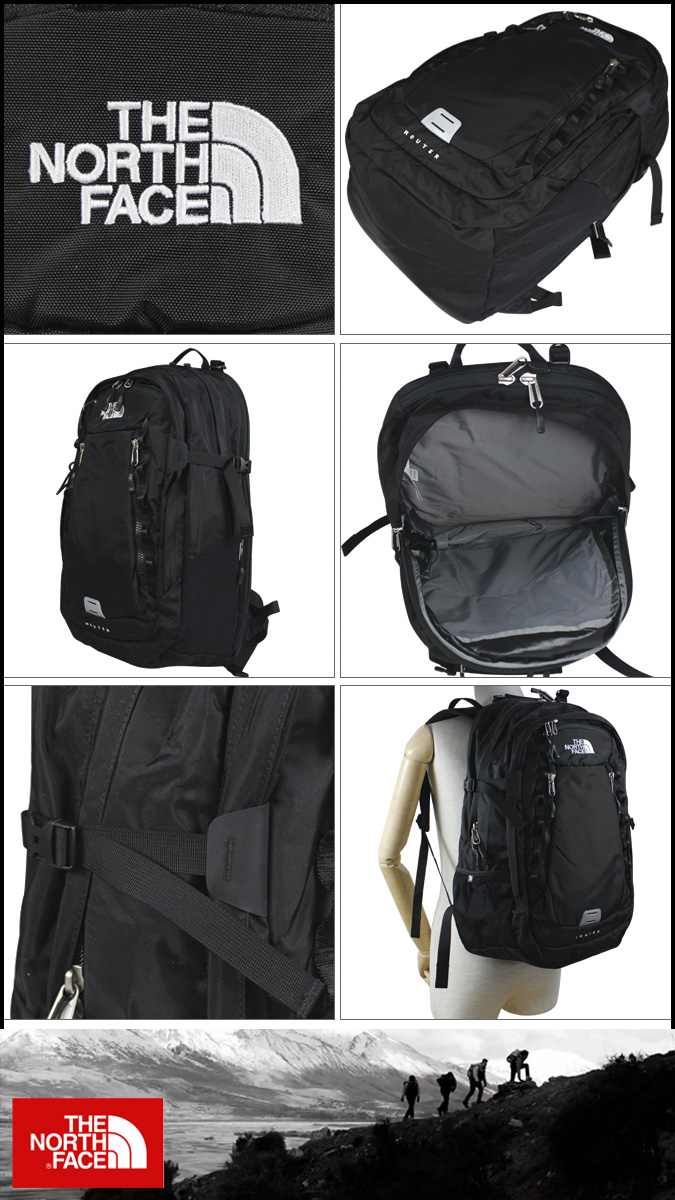 9e0cd20b9 North Face THE NORTH FACE backpack rucksack black ROUTER BACKPACK A92N men