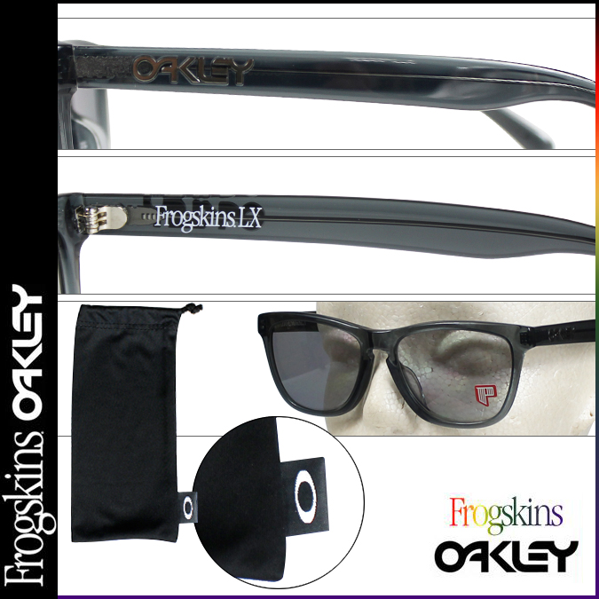 d961bdec968 Oakley   ☆ FROGSKINS LX (ASIAN FIT) ☆ Sunglasses   STYLE  OO2039-04.  Visible light transmission  35% UV transmittance  0%. DARK ASH LIGHT GRY  POLAR