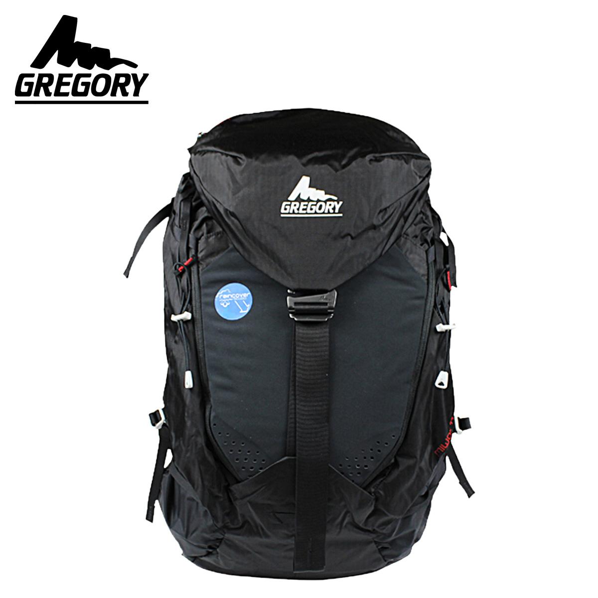 双点格雷戈里 · 格雷戈里背包背包男装 44 L 户外攀岩股票米沃克米沃克 44 风暴黑色背包 [真正]