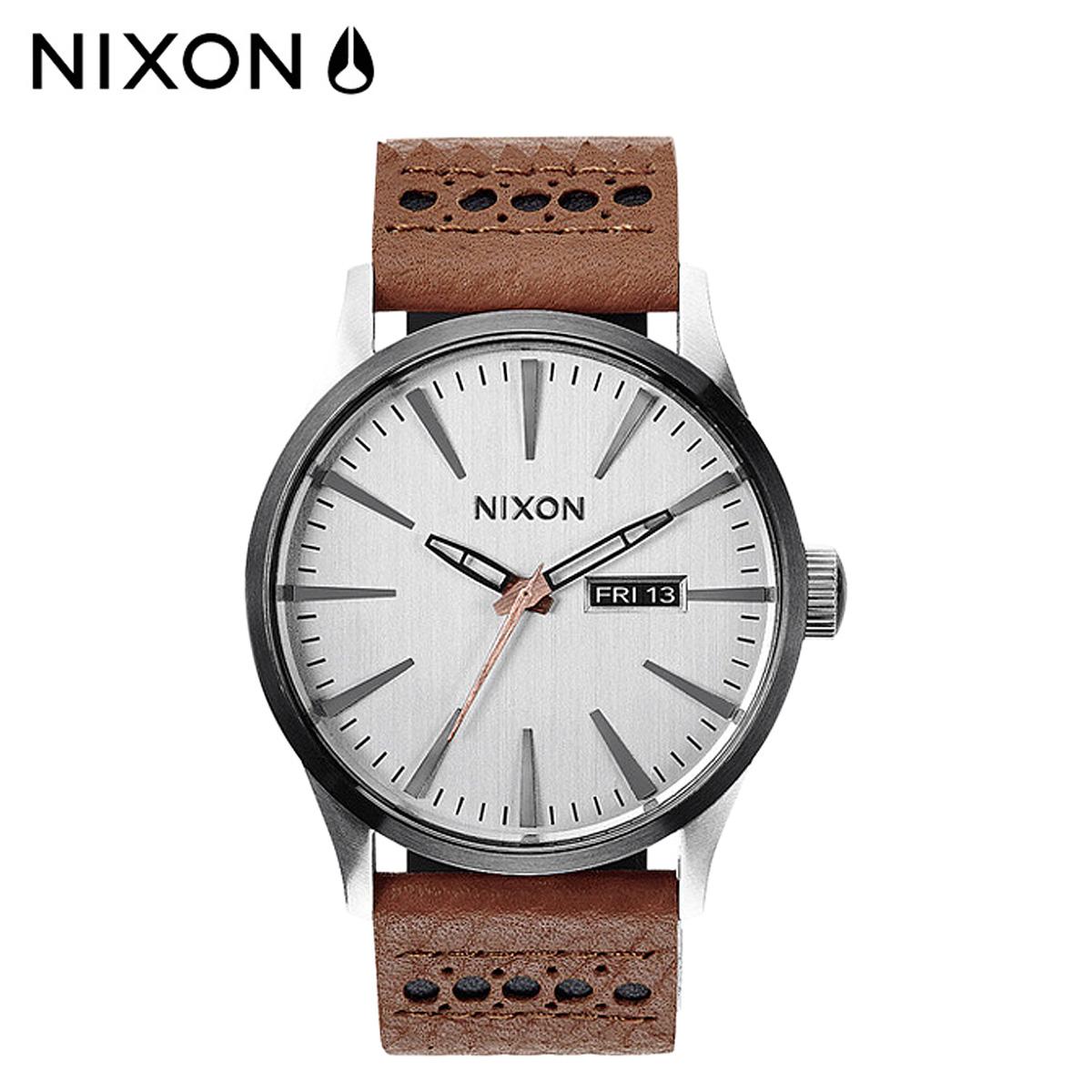 ニクソン NIXON 腕時計 時計 42mm A105 SENTRY LEATHER メンズ