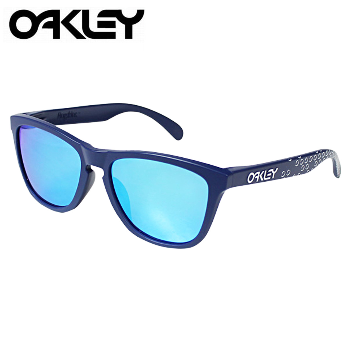 blue oakley glasses dl4w  Oakley Oakley Sunglasses Frogskins Asian Fit frog skin mens Womens glasses  Asian fitting OO9245-22