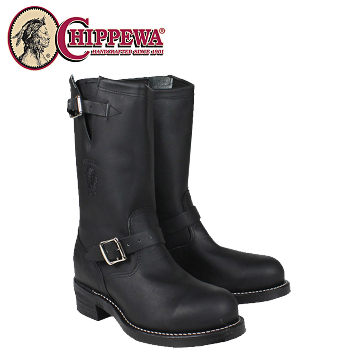 Chippewa CHIPPEWA Engineer Boots 27863 SAFETY TOE D wise E wise leather men's