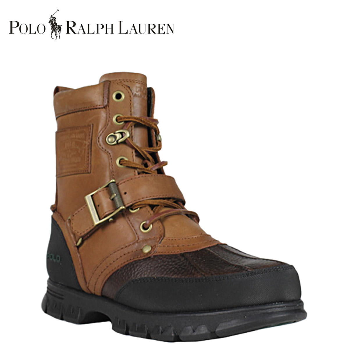 Leather Ralph Tongue Polo Men Lauren 81213959714j Boots Wood Tenard Briar j54RLA