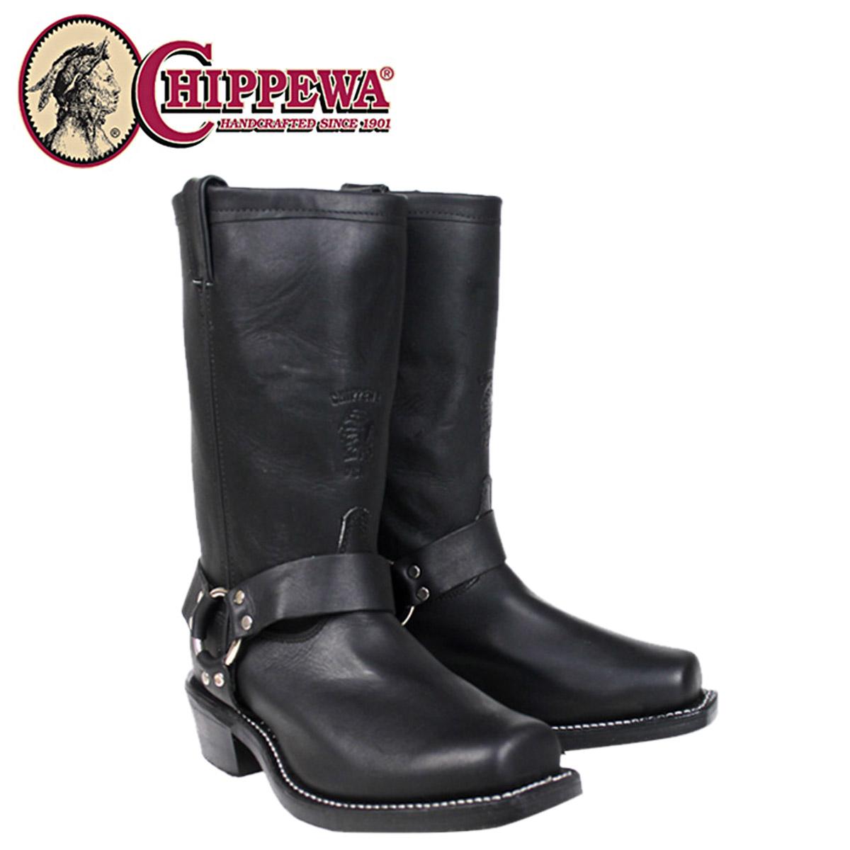 [SOLD OUT]chipewa CHIPPEWA 12英寸马具长筒靴黑色敖德萨27868 12INCH BLACK D怀斯E怀斯皮革人