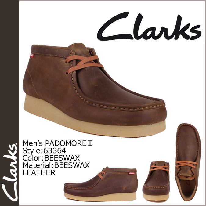 [SOLD OUT] Clarks CLARKS Padmore Wallaby boots [beads wax leather] 63364 PADMORE 2 leather men's BEES WAX LEATHER [regular]