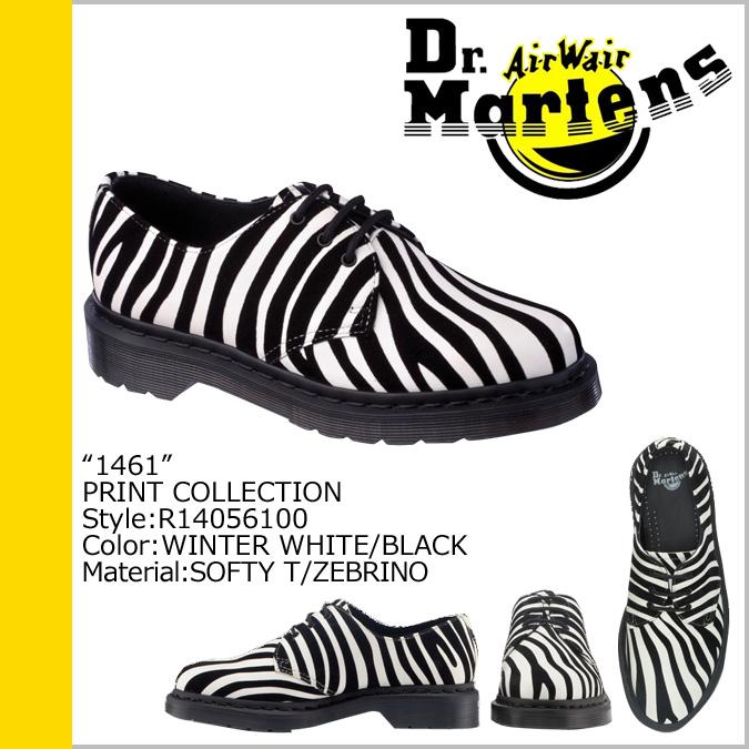 Dr. Martens Dr.Martens 1461 WOMENS 3 hole boots R14056100 PRINT full-grain leather ladies ' men's 3 EYE SHOE