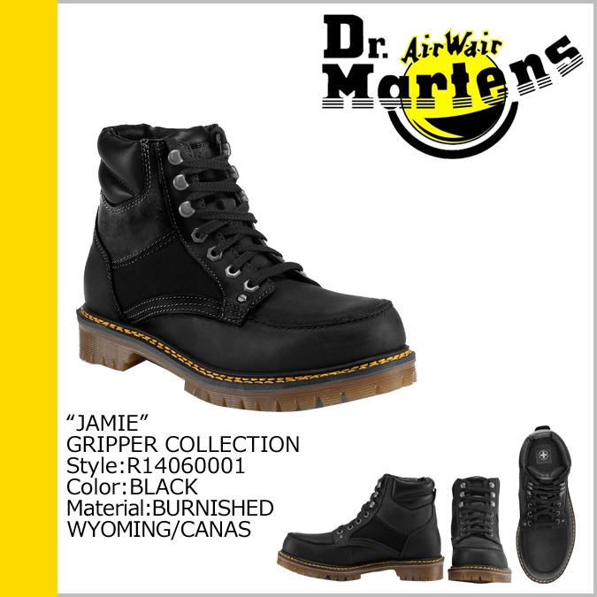 Leather men's JAMIE R14060001 [SOLD OUT] Dr. Martens Dr.Martens 7 holes boots [Black] [regular]