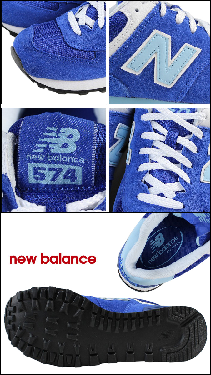 New balance new balance WL574DBC Womens sneakers B wise suede / mesh suede