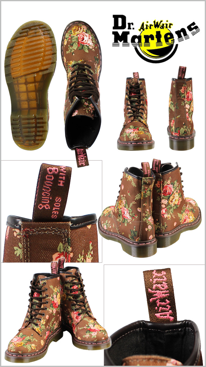 db61ad7501e14 Point 2 x Dr. Martens Dr.Martens 1460 WOMENS 8 hole boots  taupe  R11821260  PRINT canvas Womens mens