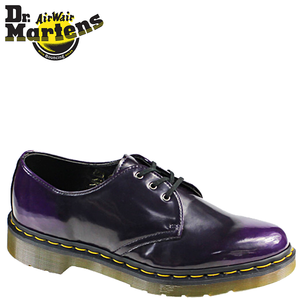 Synthetic leather men's shoes Dr. Martens Dr.Martens 3 Hall [purple] R14046510 VEGAN 1461 [regular] fs04gm