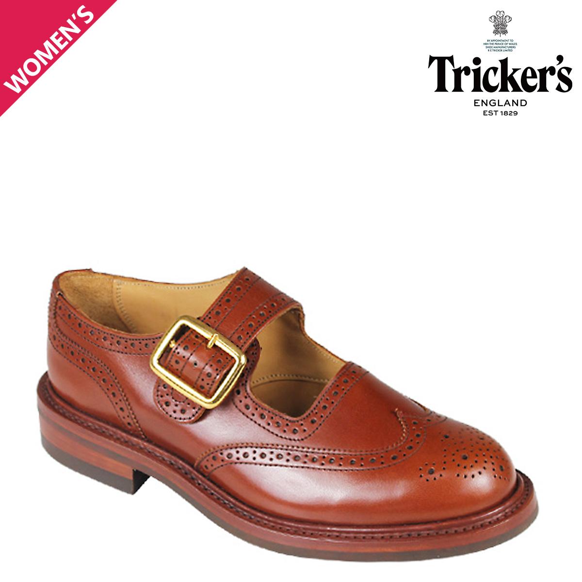 トリッカーズ Tricker's レディース ウイングチップ シューズ BUCKLE L6011 4ワイズ
