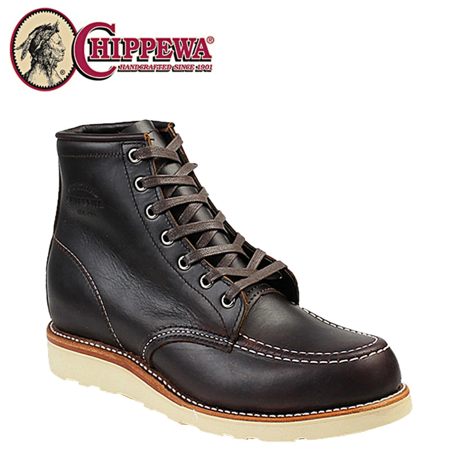 チペワ CHIPPEWA ブーツ 6インチ モック トゥ ウェッジ コードバン 1901M20 6INCH MOC TOE WEDGE Eワイズ レザー BOOTS メンズ