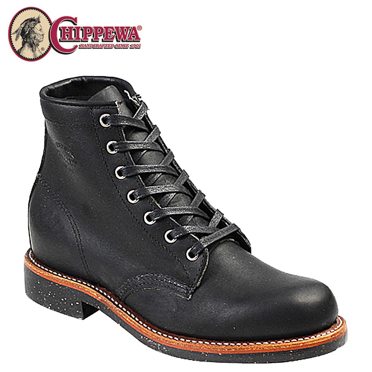 チペワ CHIPPEWA ブーツ 6インチ 6INCH SERVICE BOOT サービス ブーツ 1901M24 Dワイズ ブラック メンズ