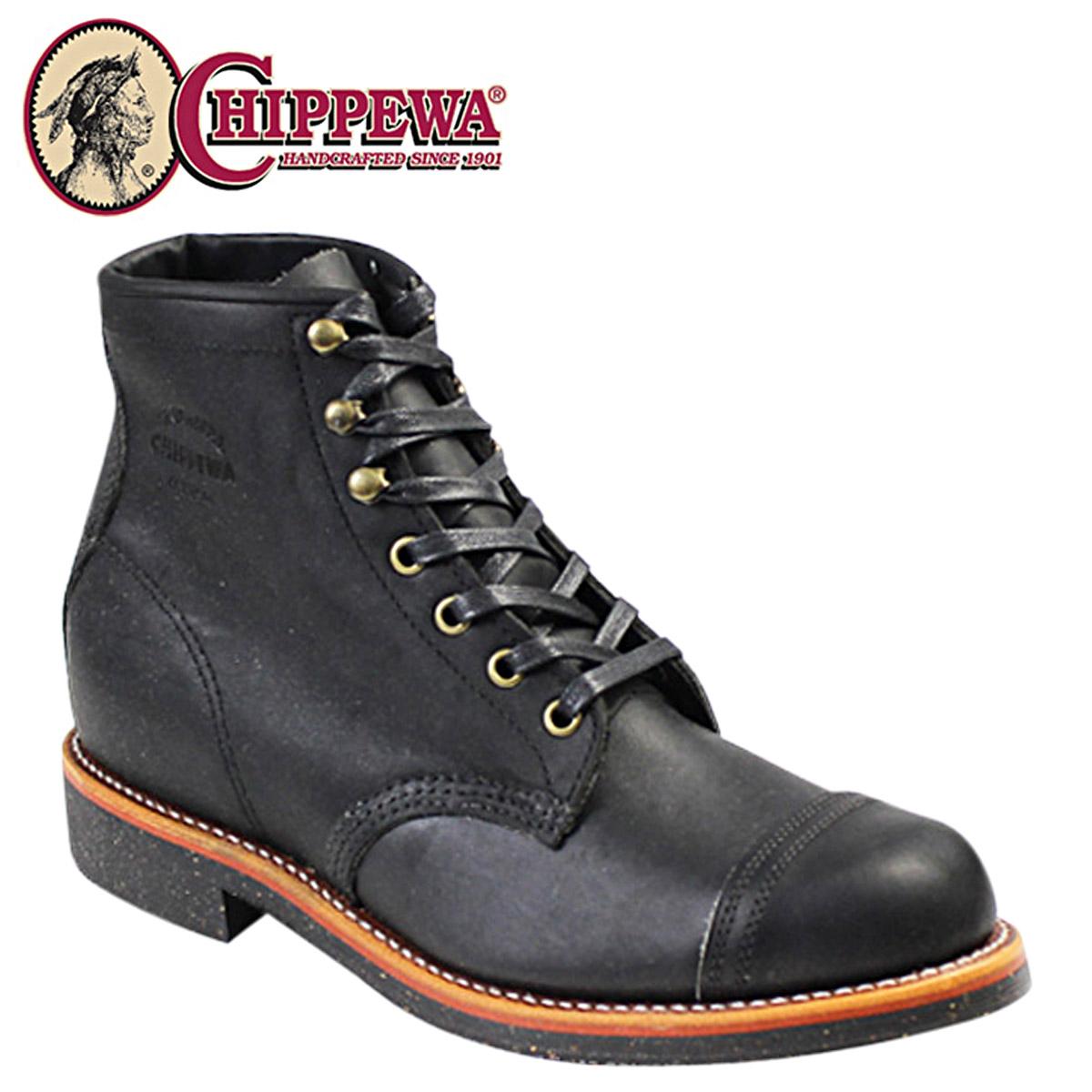 チペワ CHIPPEWA ブーツ 6インチ ホームステッド ブラック 1901M31 6INCH HOMESTEAD BOOT Dワイズ レザー メンズ