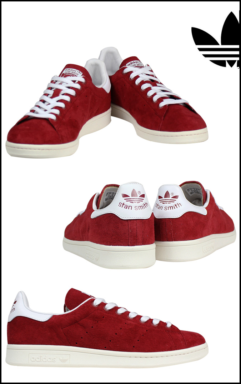 Adidas originals adidas Originals STAN SMITH sneakers Stan Smith suede mens  Womens unisex suede red D67366