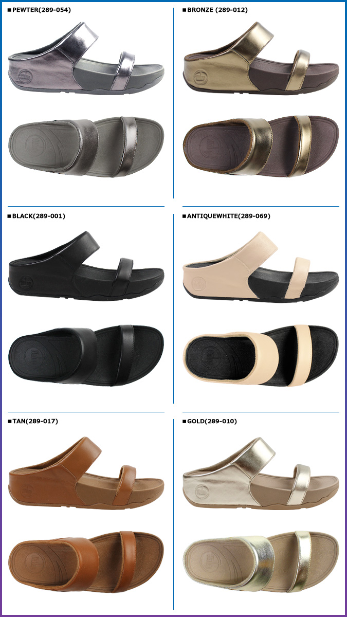 FitFlop fit flop Lulu Slide Sandals 289-001 289-010 289-017 289-054 LULU SLIDE Leather Womens