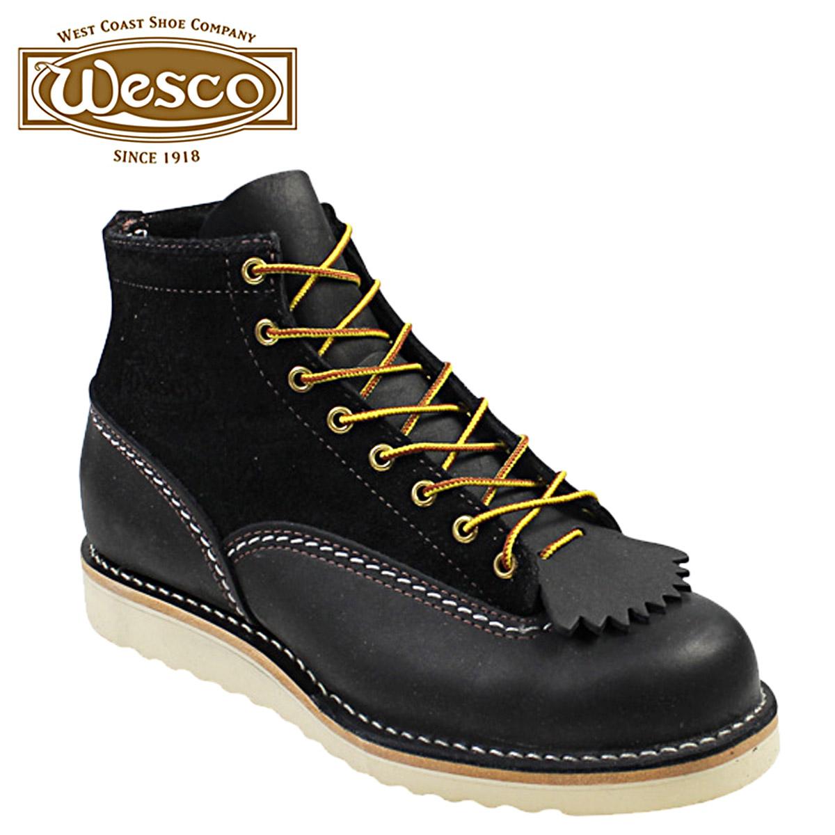 ウエスコ ジョブマスター WESCO ブーツ 6インチ カスタム 6INCH CUSTOM JOBMASTER レザー スエード ブラック 1061010 ウェスコ メンズ