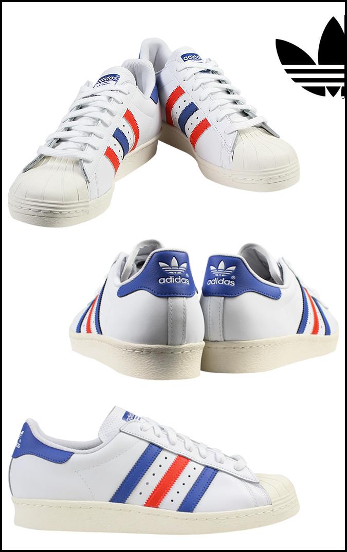 6cc923a3240584 Adidas originals adidas Originals SUPERSTAR 80S sneakers superstar 80S  leather mens France G99907 White x blue