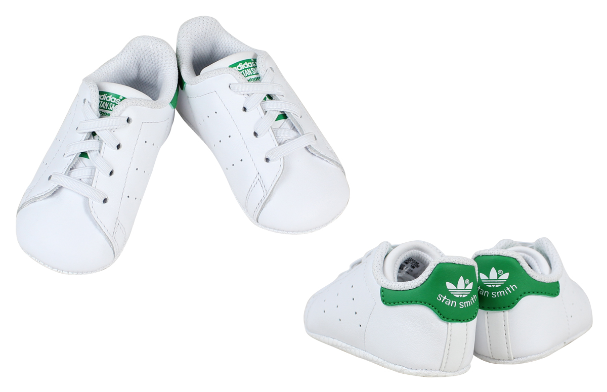 Adidas Stan Smith kids adidas originals sneakers STAN SMITH CRIB originals baby white shoes B24101 [8/5 new in stock]