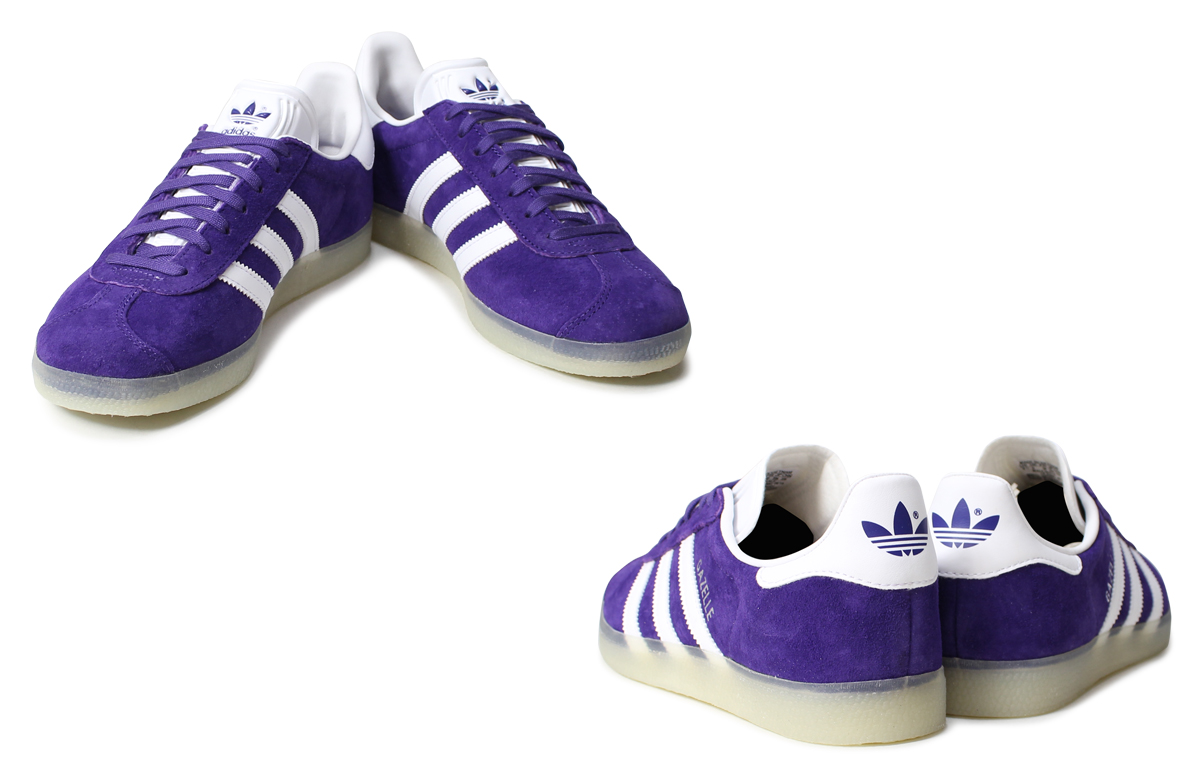 purple adidas gazelle
