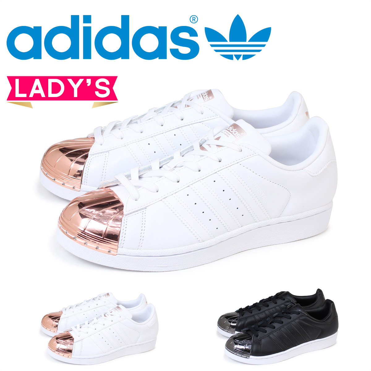 best loved 2acaa 53a07 adidas Superstar Up Two Strap Black Wedge Heels and get free