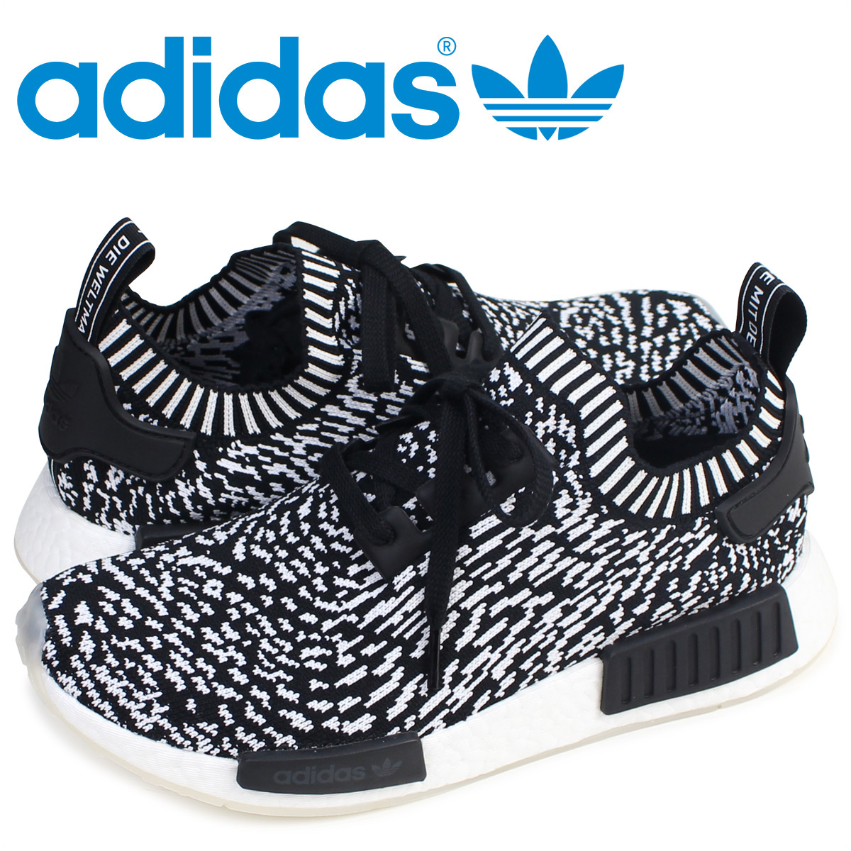 best service bbf34 a7ea9 Adidas originals adidas Originals NMD R1 PK sneakers nomad men BY3013 ZEBRA  PACK black