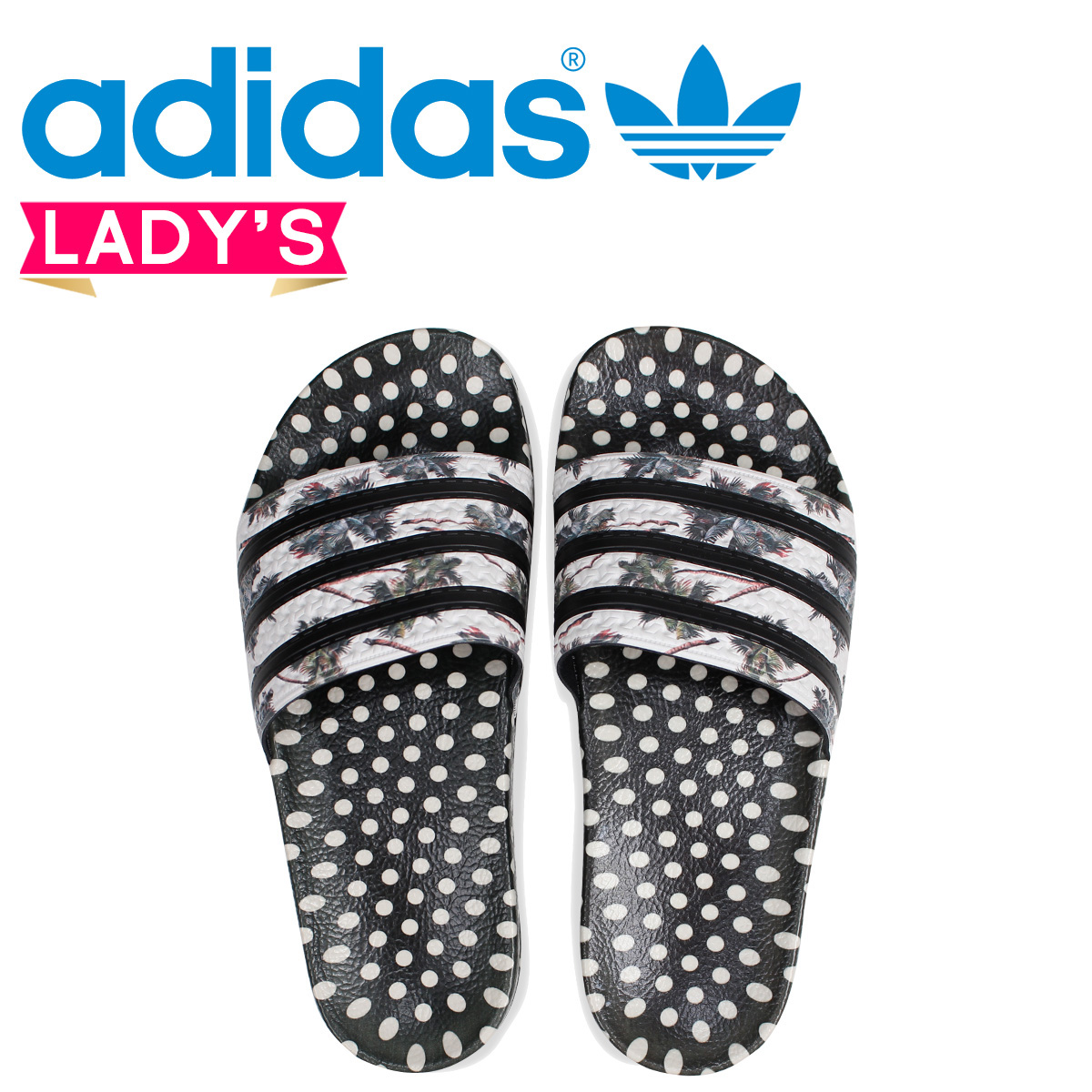 91587b3ab アディダスオリジナルスアディレッタ adidas Originals Lady s sandals shower sandals ADILETTE W  CM8224 black