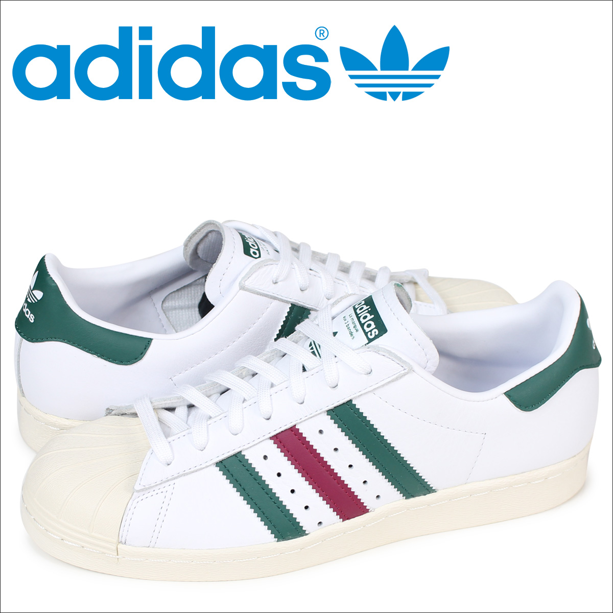 Adidas superstar 80s adidas Originals sneakers SUPERSTAR men CQ2654 shoes  white [load planned Shinnyu load in reservation product 12/26 containing]