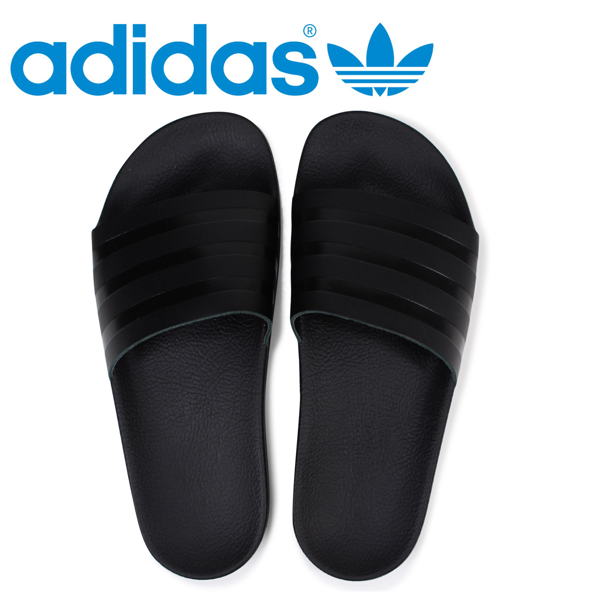 001462225ac8 アディダスアディレッタ adidas Originals sandals shower sandals ADILETTE SLIDES men  CQ3094 black originals  load planned Shinnyu load in reservation product ...